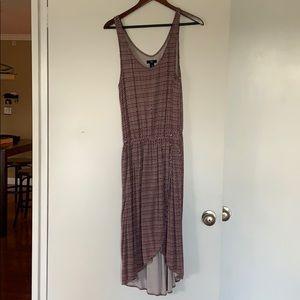 Gap maroon high low dress (size M)